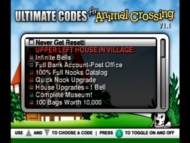 Emulator Issues #9378: Ultimate Codes - Animal Crossing Text Issue