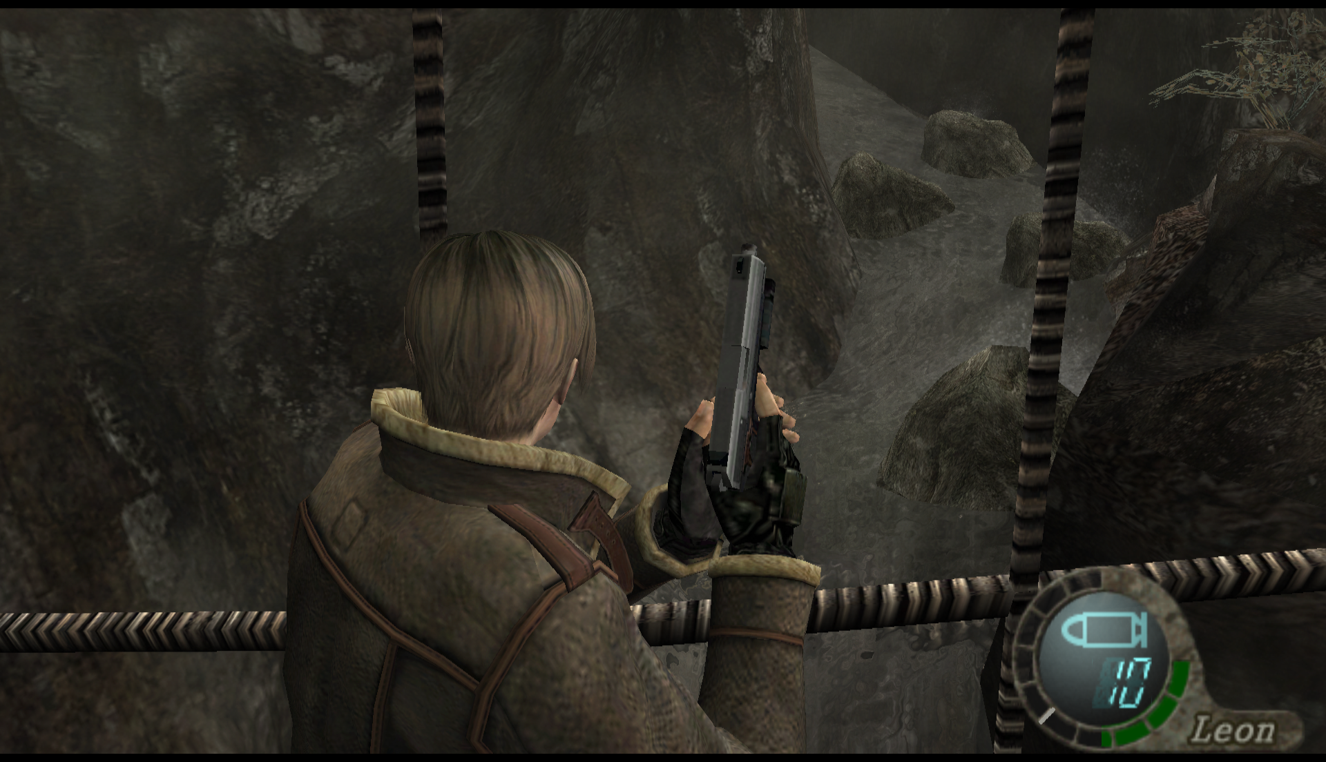 Emulator Issues #9936: Black Stripes on water - RE4