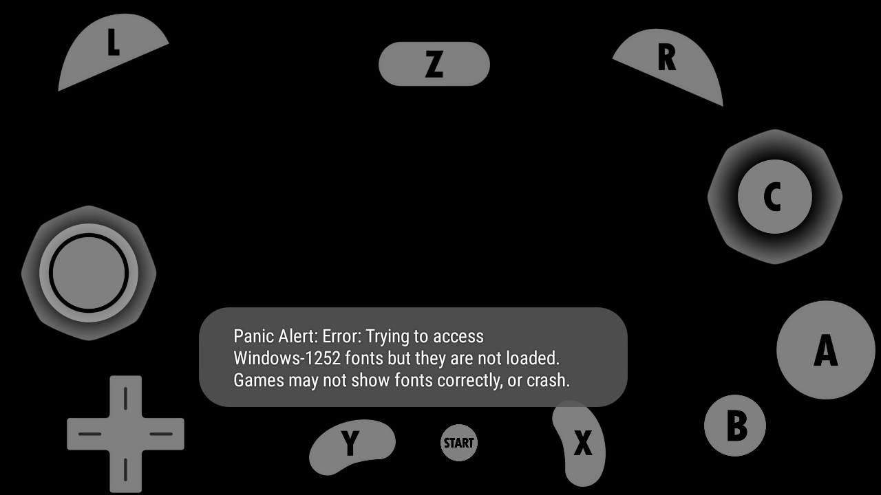 Emulator Issues #10035: Failing to load IPL fonts on Android