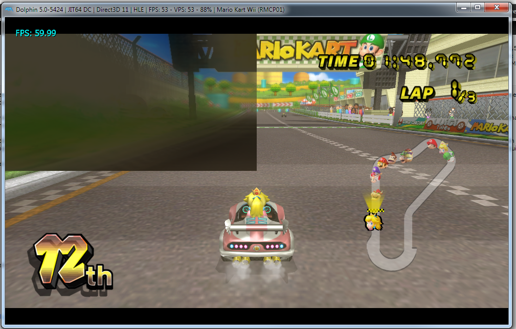 Emulator Issues #10526: Grey box is on screen during some