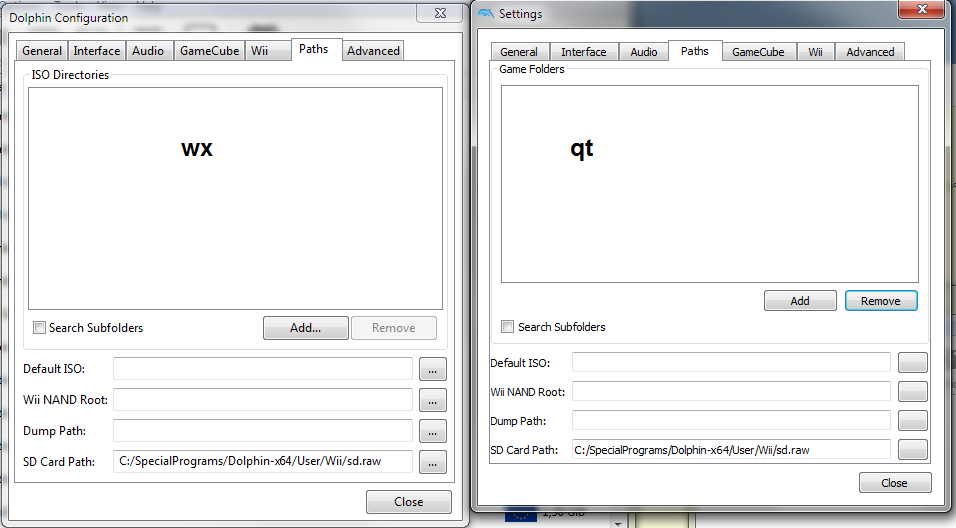 Emulator Issues #11048: Qt: Missing dots on browse buttons, group